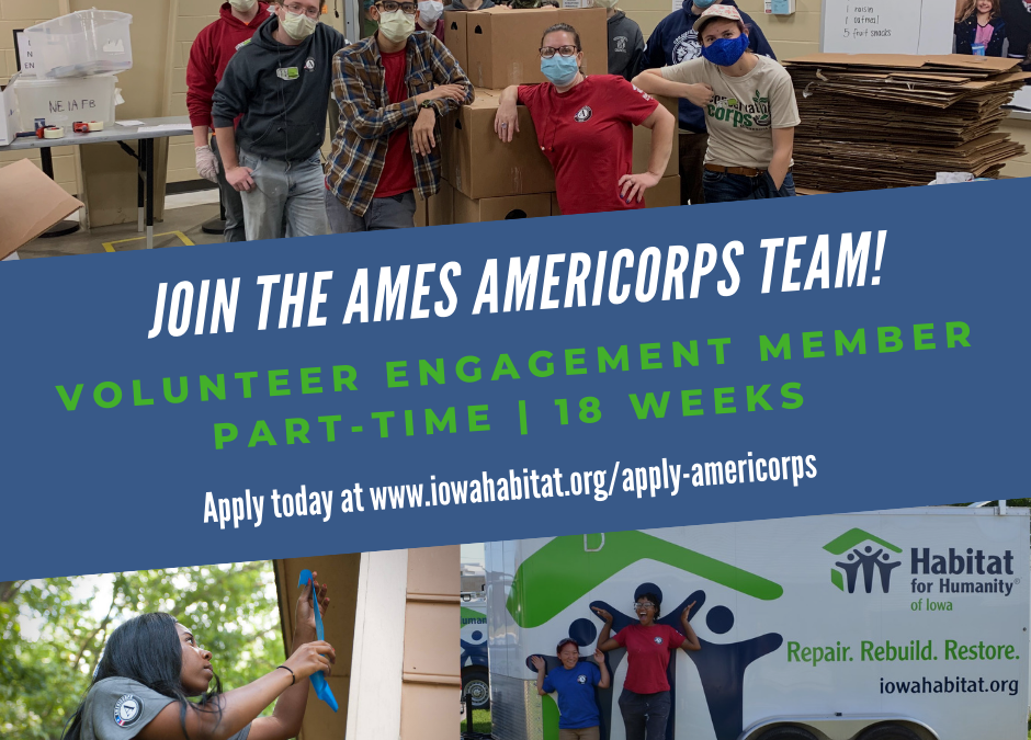 We are looking for 2 AmeriCorps workers this summer!